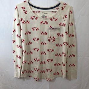 Love Hanna 2 Piece Pajamas Reindeer Small